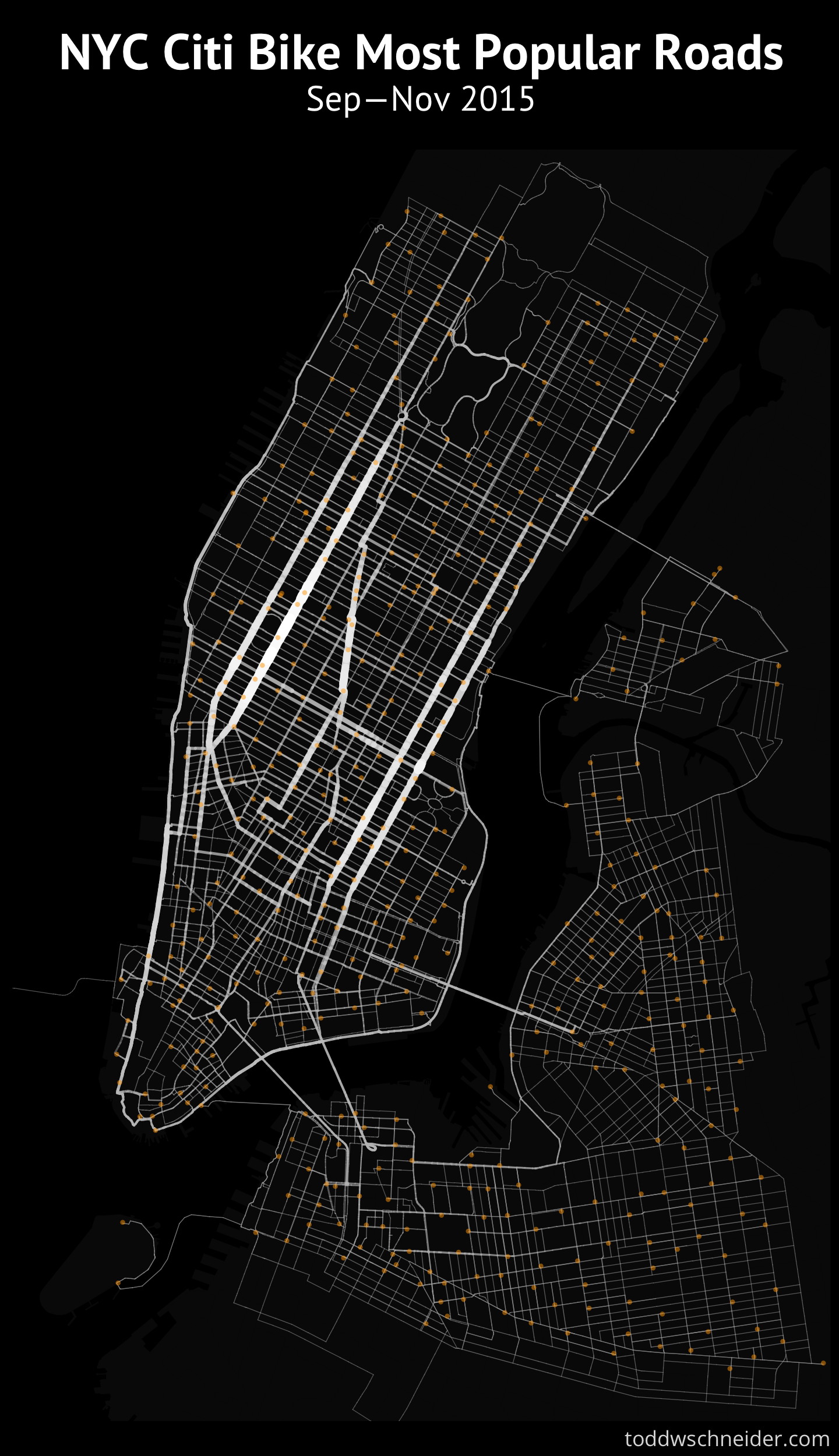 Citi Bike New York Map A Tale of Twenty Two Million Citi Bike Rides: Analyzing the NYC