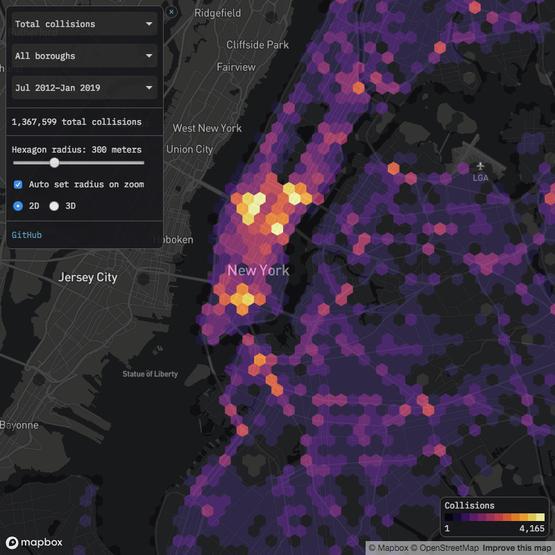 nyc motor vehicle collisions map